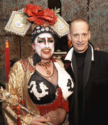 Russell Blackwood and John Waters at Thrillpeddlers' Hypnodrome